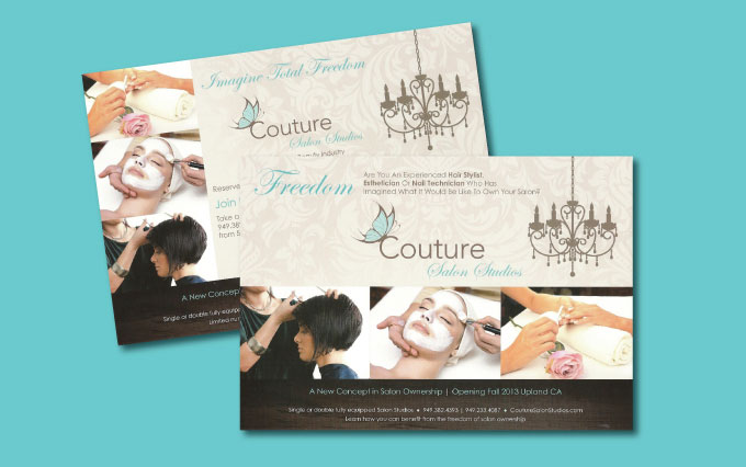 couture salon studios in upland postcards from perry design and advertising - image