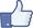 "Facebook ""like"" symbol"