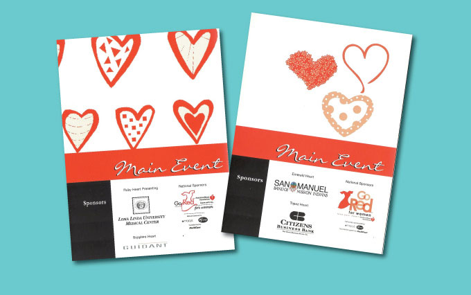 american heart association go red for women fundraiser invitation from perry design and advertising - image