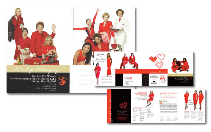 american heart association go red for women invitation and campaign from perry design and advertising - image