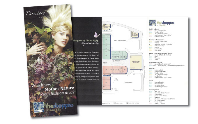 the shoppes at chino hills store directory and map from perry design and advertising - image