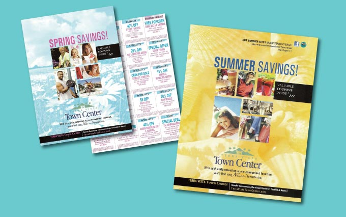 terra vista town center coupon booklets in rancho cucamonga from perry design and advertising - image