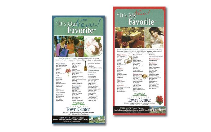 terra vista town center ads in the inland valley daily bulletin newspaper from perry design and advertising - image