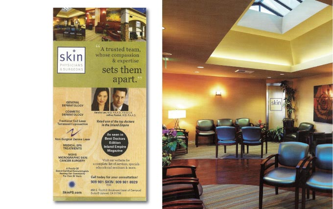 skin physicians and surgeons print ad in inland empire magazine from perry design and advertising - image
