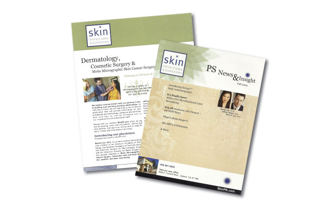 skin physicians and surgeons newsletters from perry design and advertising - image