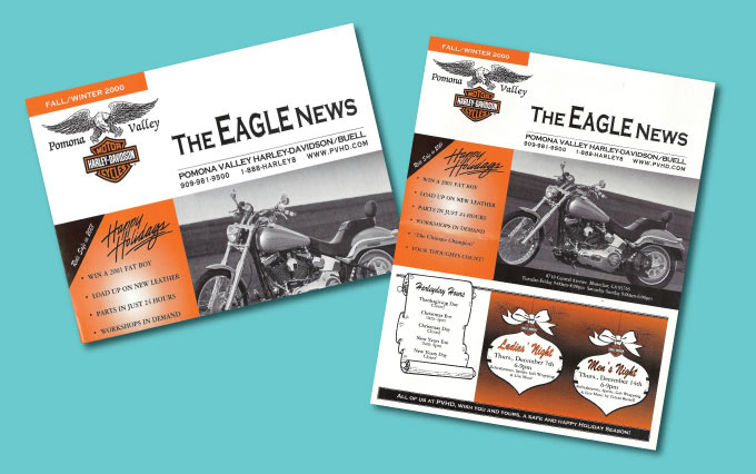 pomona valley harley davidson in upland newsletters from perry design and advertising - image